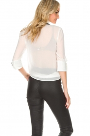 AnnaRita N | Blouse with bow Lisa | white  | Picture 5