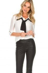 AnnaRita N | Blouse with bow Lisa | white  | Picture 2