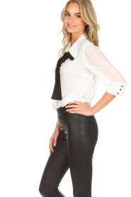 AnnaRita N | Blouse with bow Lisa | white  | Picture 4