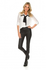 AnnaRita N | Blouse with bow Lisa | white  | Picture 3