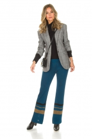 AnnaRita N |  Checkered blazer Paola | grey  | Picture 3