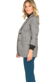 AnnaRita N |  Checkered blazer Paola | grey  | Picture 4