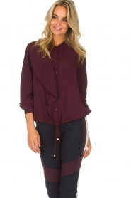 AnnaRita N |  Blouse Lynn | bordeaux  | Picture 2