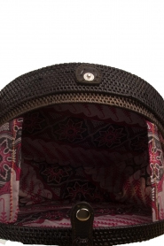 Little Soho | Rotan tas Bali groot | zwart  | Afbeelding 4