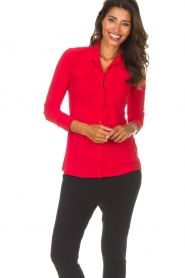 D-ETOILES CASIOPE |  Blouse Petite | red  | Picture 2