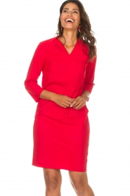 D-ETOILES CASIOPE |  Dress Poirette | red  | Picture 4