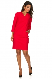 D-ETOILES CASIOPE |  Dress Poirette | red  | Picture 3