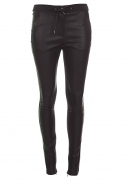 Aaiko |  Faux leather pants Sosa | black and green  | Picture 1