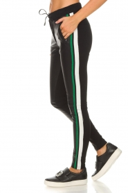 Aaiko |  Faux leather pants Sosa | black and green  | Picture 4