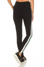 Aaiko |  Faux leather pants Sosa | black and green  | Picture 5