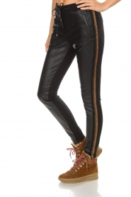 Aaiko |  Faux leather pants Sosa | gold  | Picture 4
