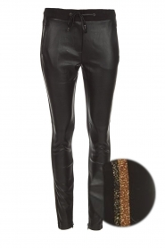 Faux leather pants Sosa | gold