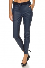 Aaiko |  Faux leather pants Sosa | blue  | Picture 4