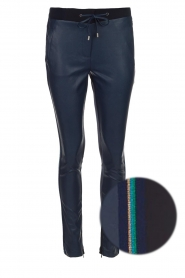 Aaiko |  Faux leather pants Sosa | blue  | Picture 1