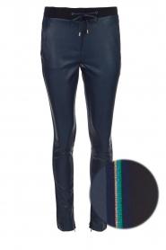 Aaiko | Imitatieleren broek Sosa | blauw  | Afbeelding 1