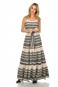 Devotion |  Maxi dress Neyla | black & white  | Picture 3