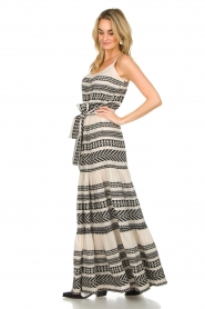 Devotion |  Maxi dress Neyla | black & white  | Picture 4