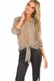 Aaiko | Blouse Soury | camel  | Afbeelding 2