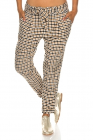 Aaiko |  Checkered trousers Checks | camel  | Picture 3