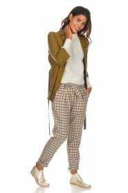 Aaiko |  Checkered trousers Checks | camel  | Picture 2