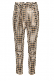 Aaiko |  Checkered trousers Checks | camel  | Picture 1