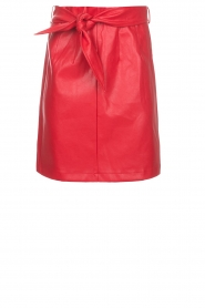 Aaiko |  Faux leather skirt Patia | red  | Picture 1