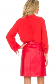Aaiko |  Faux leather skirt Patia | red  | Picture 5