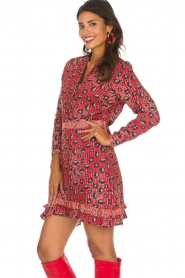 Aaiko |  Dress Media | red  | Picture 4