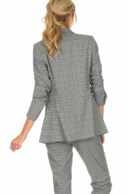 Aaiko |  Checkered blazer Cinta | grey  | Picture 6