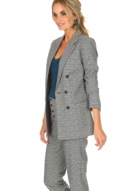 Aaiko |  Checkered blazer Cinta | grey  | Picture 5