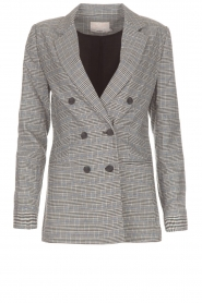 Aaiko |  Checkered blazer Cinta | grey  | Picture 1