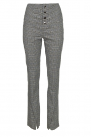 Aaiko |  Checkered trousers Carilla | grey  | Picture 1
