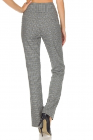 Aaiko |  Checkered trousers Carilla | grey  | Picture 4