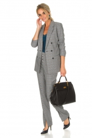 Aaiko | Geruite pantalon Carilla | grijs  | Afbeelding 2