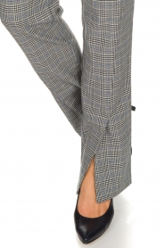 Aaiko |  Checkered trousers Carilla | grey  | Picture 5