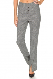 Aaiko |  Checkered trousers Carilla | grey  | Picture 2