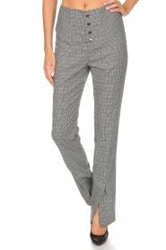 Aaiko | Geruite pantalon Carilla | grijs  | Afbeelding 3