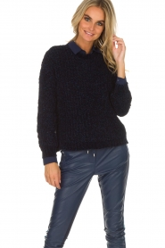 Aaiko |  Sweater Nille | blue  | Picture 6