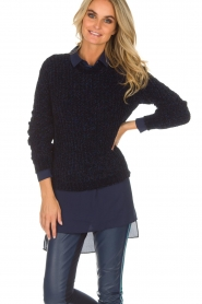 Aaiko |  Sweater Nille | blue  | Picture 2