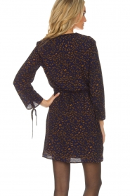Aaiko |  Dress with leopard print Adalia | blue  | Picture 5