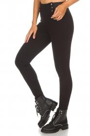 Aaiko |  Leggings Paulia | black  | Picture 4
