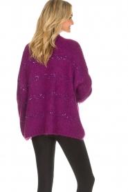 Aaiko |  Cardigan Dylene | purple  | Picture 6