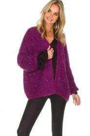 Aaiko |  Cardigan Dylene | purple  | Picture 2