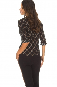 Aaiko |  Blouse with lace details Chanty | black  | Picture 5