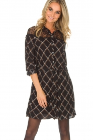 Aaiko |  Dress with lace details Ciri | black  | Picture 2