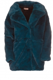 Aaiko |  Faux fur coat Fiona | blue  | Picture 1