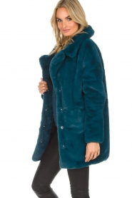 Aaiko |  Faux fur coat Fiona | blue  | Picture 4