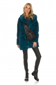 Aaiko |  Faux fur coat Fiona | blue  | Picture 3