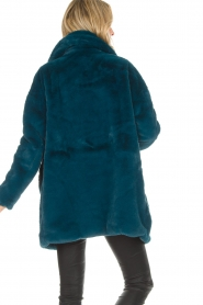 Aaiko |  Faux fur coat Fiona | blue  | Picture 5