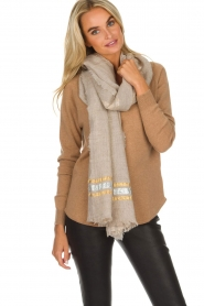 I love my Moment |  Scarf Filippa | beige  | Picture 2